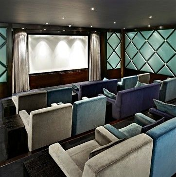 Hampstead   Contemporary   Home Theater   London   FiSHER ID