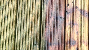 Vorher/Nacher Vergleich Holzdielen