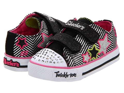 just ordered these for Chloe!    SKECHERS KIDS Shuffles - Triple Up Lights 10249N (Infant/Toddler) Black - Zappos.com Free Shipping BOTH Ways