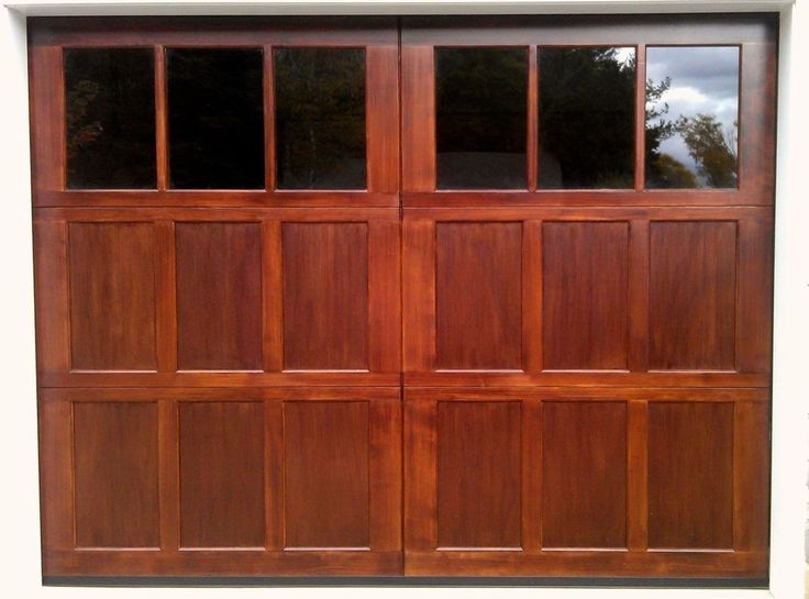9x7 Wood Overhead Carriage House Garage Door AmanaDoors Model 104W6 #AmanaDoors