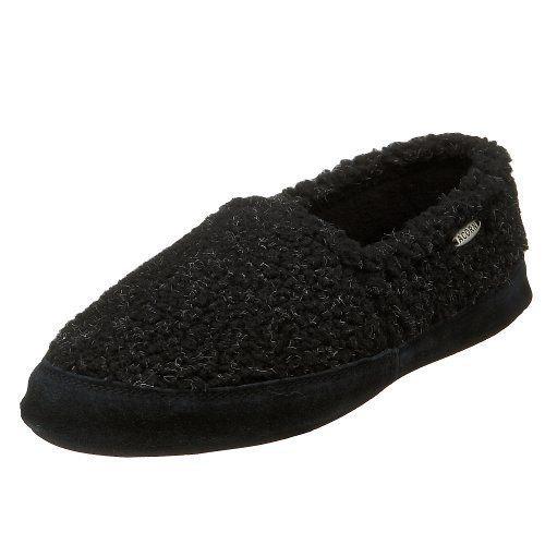 ACORN Men's Tex Moc Slipper ACORN. $29.41. Weatherproof outsole with skid-resistant tread for sure footing. 80% Acrylic, 20% Polyester. Enhanced raised heel and arch provide total comfort and therapy for feet. Rubber sole