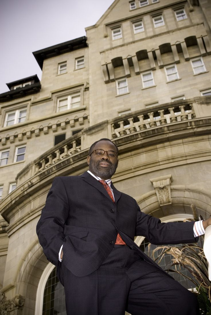 """Philip  Emeagwali at The Fairmont Hotel MacDonald in Downtown Edmonton Alberta, Canada, September 24 2006 to deliver his speech titled """"Ideas, Not Money, Alleviate Poverty.""""   Excerpt:  """"Unless Africa significantly increases its intellectual capital, the continent will remain irrelevant in the 21st century and even beyond... """""""