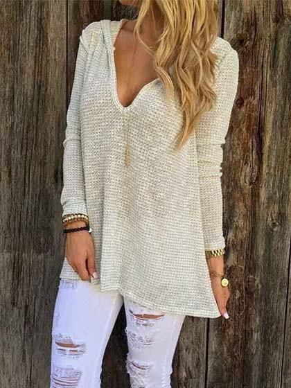 Chicnico Suger Dust Solid Oversized Top