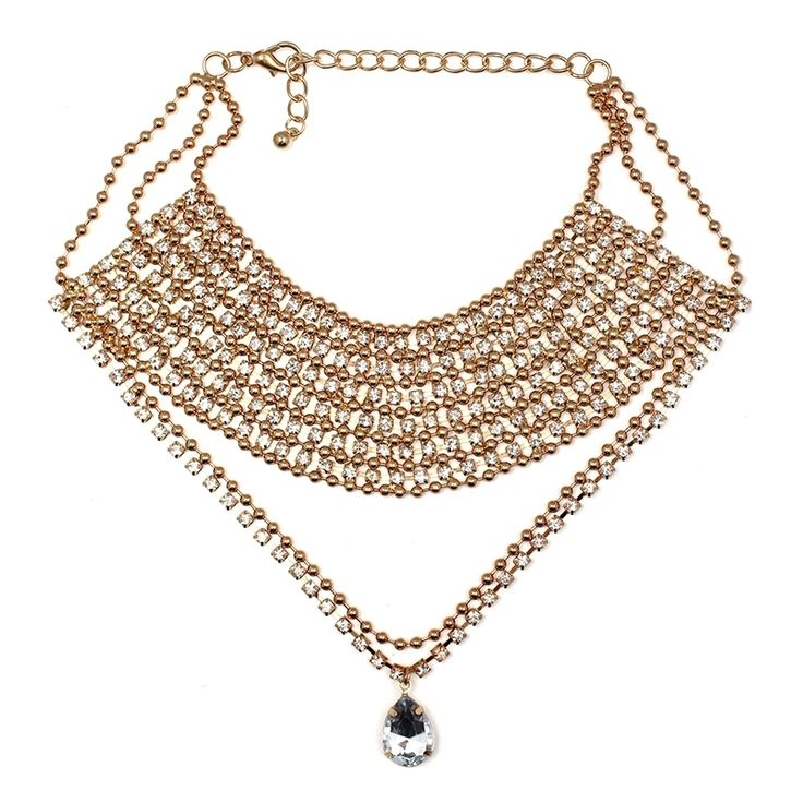 Specifics:  Item Type:Necklaces  Fine or Fashion:Fashion  Necklace Type:Chokers Necklaces  Metals Type:Zinc Alloy  Shape\pattern:Water Drop  Gender:Women  Style:Trendy  Pendant Size:women necklace  Material:Rhinestone  Chain Type:Link Chain | Shop this product here: http://spreesy.com/LaRouxLouna/501 | Shop all of our products at http://spreesy.com/LaRouxLouna    | Pinterest selling powered by Spreesy.com