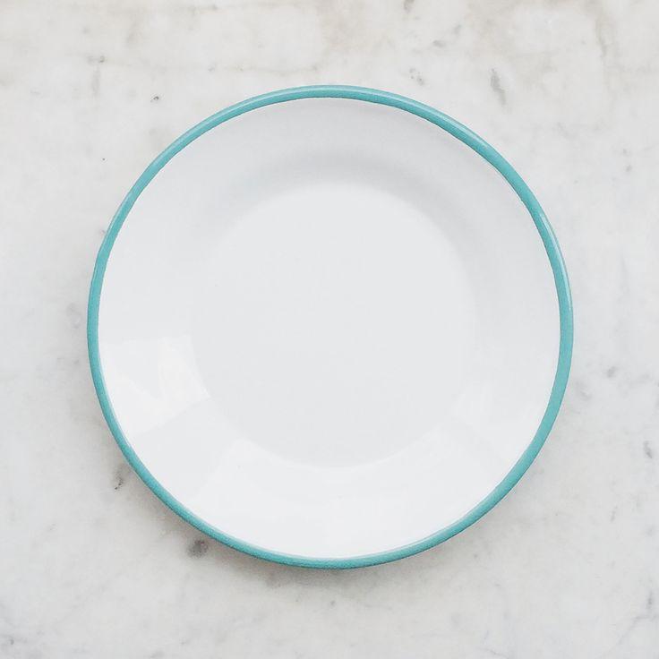 Enamelware Side Plate - Turquoise  #retro #enamelware #plate #gift