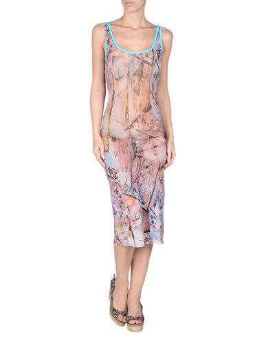 ¡Cómpralo ya!. BLUGIRL BLUMARINE BEACHWEAR Vestido de playa mujer. tejido en punto, sin aplicaciones, estampado multicolor, sin bolsillo , vestidoinformal, casual, informales, informal, day, kleidcasual, vestidoinformal, robeinformelle, vestitoinformale, día. Vestido informal  de mujer color rosa de BLUGIRL BLUMARINE BEACHWEAR.