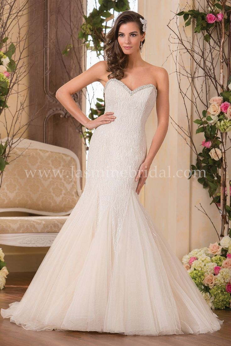 Jasmine bridal collection style f171052 in ivory gold for Gold beaded wedding dress