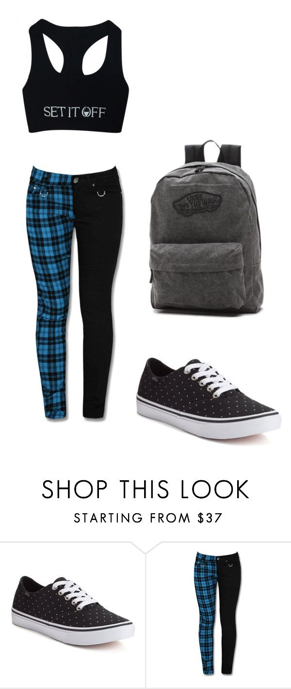 """""""Set it Off (warped band)"""" by killjoy29 ❤ liked on Polyvore featuring Vans"""