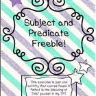 This is an exercise to help students understand subjects and predicates.   If you like this, it's a part of a larger packet in my store: http://www...