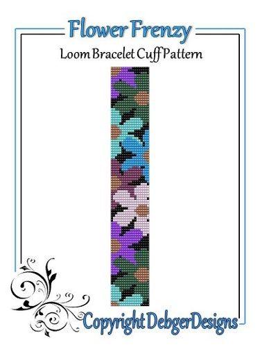 Flower Frenzy - Loom Bracelet Cuff Pattern | DebgerDesigns - Patterns on ArtFire