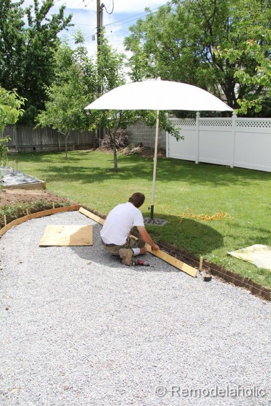 DIY concrete patio part 1
