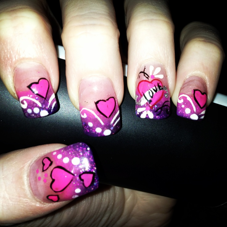 9 Best Heart Nail Art Designs With Images: 340 Best Hearts & Love Themed Nail Designs Images On