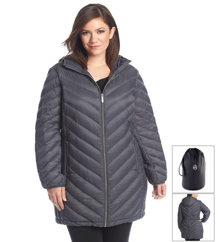 MICHAEL Michael Kors® Plus Size Three-Quarter Packable Down Coat ...