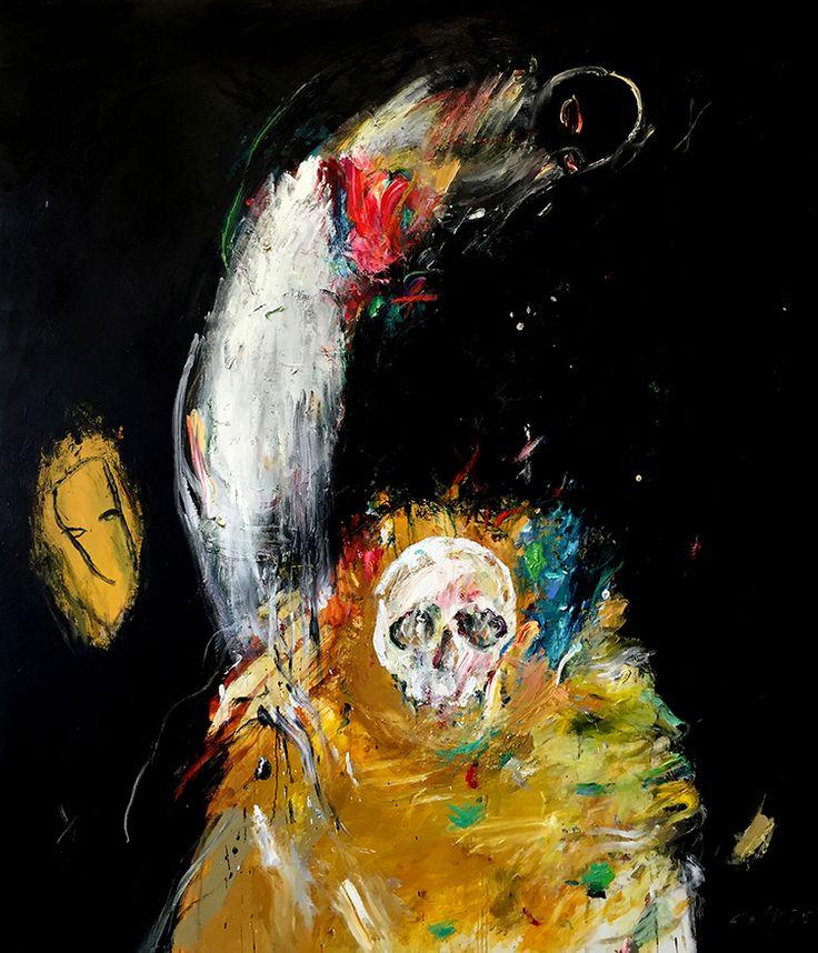 Heather Betts, Yorick 170 x 200 cm, oil on linen, available