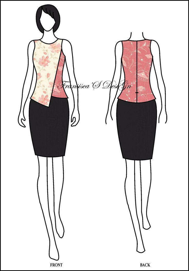 Blouse asimetris lapis depan.  #FashionDesigner #Butik #OnlineShop #DesainBajuBusanaWanita #Sketsa #Sketch #Modern #Casual #Trend #Blouse #Dress #Skirt #Hem #Batik #SoloBaru #Sukoharjo #Surakarta #JawaTengah #HP:085226138628 #PinBB:5176EF34