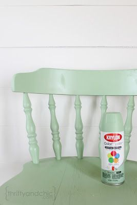 I have a wooden chair that would look great painted!  Thrifty and Chic - DIY Projects and Home Decor