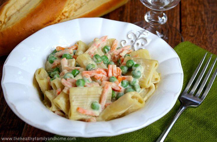Vegetable Rigatoni With Creamy Cauliflower Sauce #Vegan