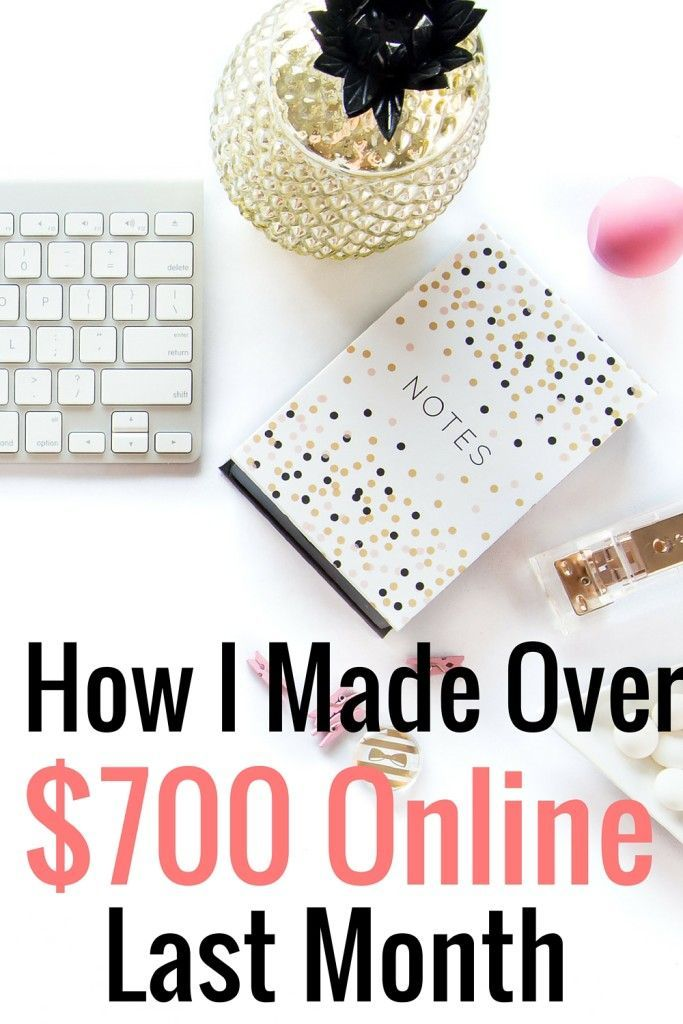 Every month I share my online income report. In August, I made over $700 from working online. Here's a breakdown of my online income report and where the money came from!