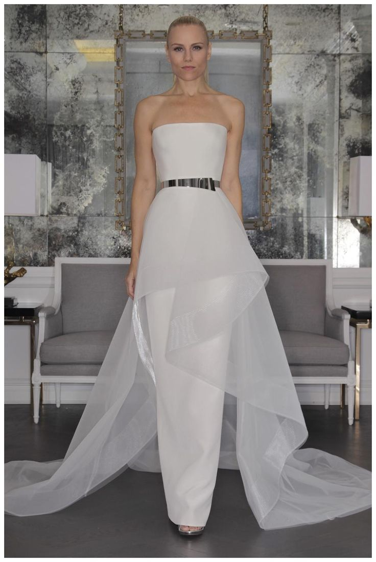 Wedding dress from the Romona Keveza Fall 2016 Luxe Bridal Collection.
