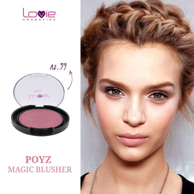 Αποκτήστε την απαραίτητη ροζ πινελιά, εδώ: http://www.lovie.gr/rouz-lovie1/rouz-magic-blushers/rouz-magic-blusher-39 #lovie #cosmetics #rouz #magic_blusher