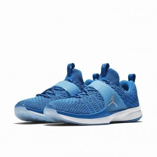 Jordan Trainer 2 Flyknit Mens Training Shoes 9 Military Blue Silver  Jordan   CrossTrainingShoes 48672ffc6