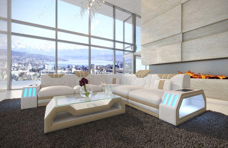 Designer Sofa CLERMONT CORNER mit LED Beleuchtung – Sandra Hackl-Antretter