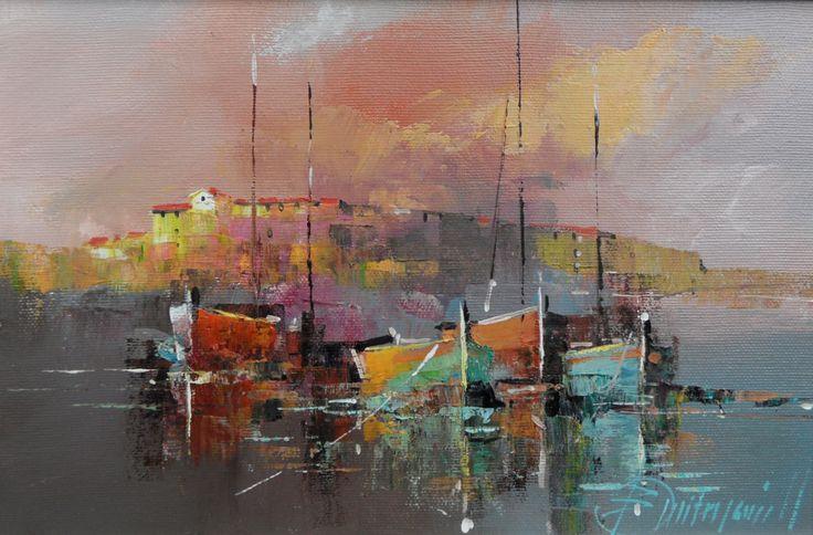 Branko Dimitrijevic, Storm, Oil on canvas, 20x30cm