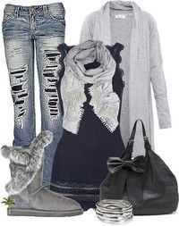 Cute Casual Uggs Outfit <3