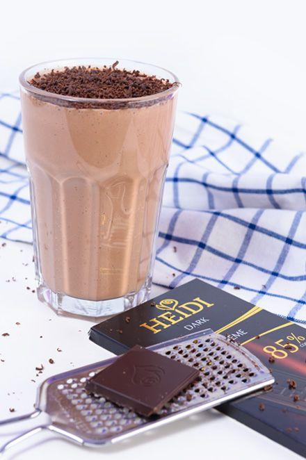 Czekoladowy koktajl białkowy #koktajl #białkowy #czekolada #miód #shake #protein #coconut #chocolate #honey #cocktail