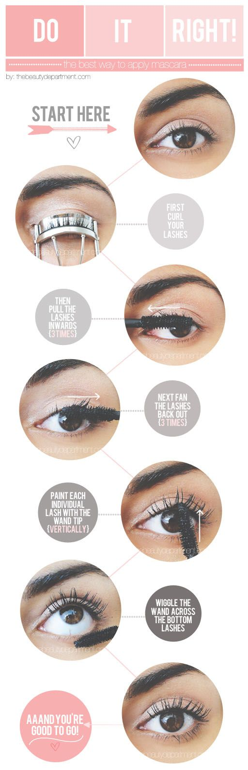 the best way to apply mascara #makeup #tutorial #beauty #mascara http://www.fashiondivadesign.com/20-helpful-makeup-tutorials/