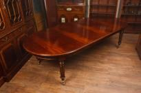 Large Extending Mahogany Victorian Dining Table