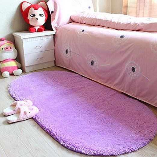 Amazon.com: LOCHAS Ultra Soft Children Rugs Room Mat Modern Shaggy Area Rugs Home Decor 2.6' X 5.3', Purple: Home & Kitchen
