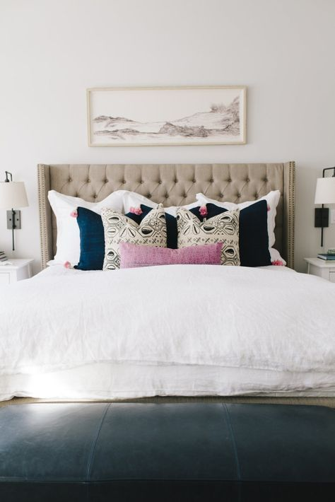 Throw Pillow Inspiration! #GetDecorated · Neutral BeddingNeutral BedroomsWhite  BeddingMaster ...