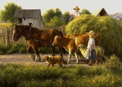 """""""The Passing Parade""""On An Afternoon With The Plough-Horse~ The Fine Art of Robert Duncan"""