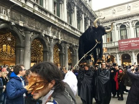 Here Comes the Bull! Venice Carnival 2017     (Venice, Italy) The Ballad of the Masks and The Beheading of the Bull are new elements that ...