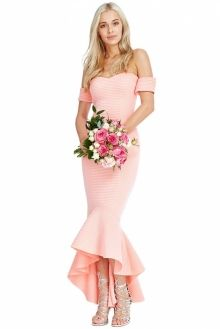 Fishtail Bardot Luxury Dress