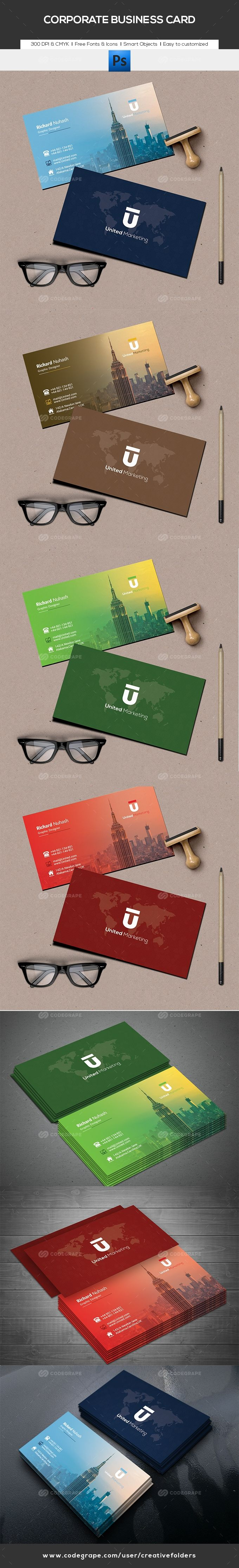 Corporate Business Card on @codegrape. More Info: https://www.codegrape.com/item/corporate-business-card/17767