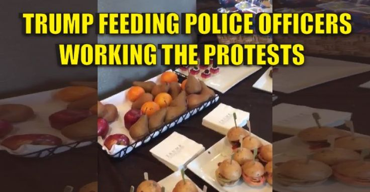 "BREAKING VIDEO : Trump is Providing Police Officers at ""Trump Protests"" With Dinner 11/13/16"