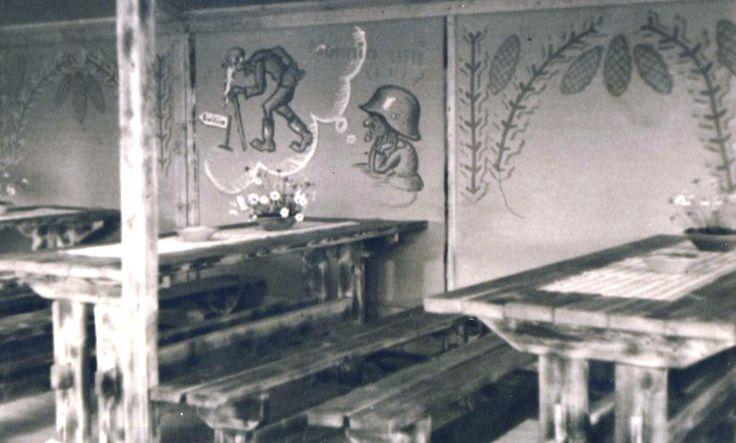 Lottakanttiini Jii-Vee / Viihtyisin lottakanttiini kilpailun kuvasatoa vuodelta 1944.  #lottamuseo#lottasvard#lottakanttiini#sisustus