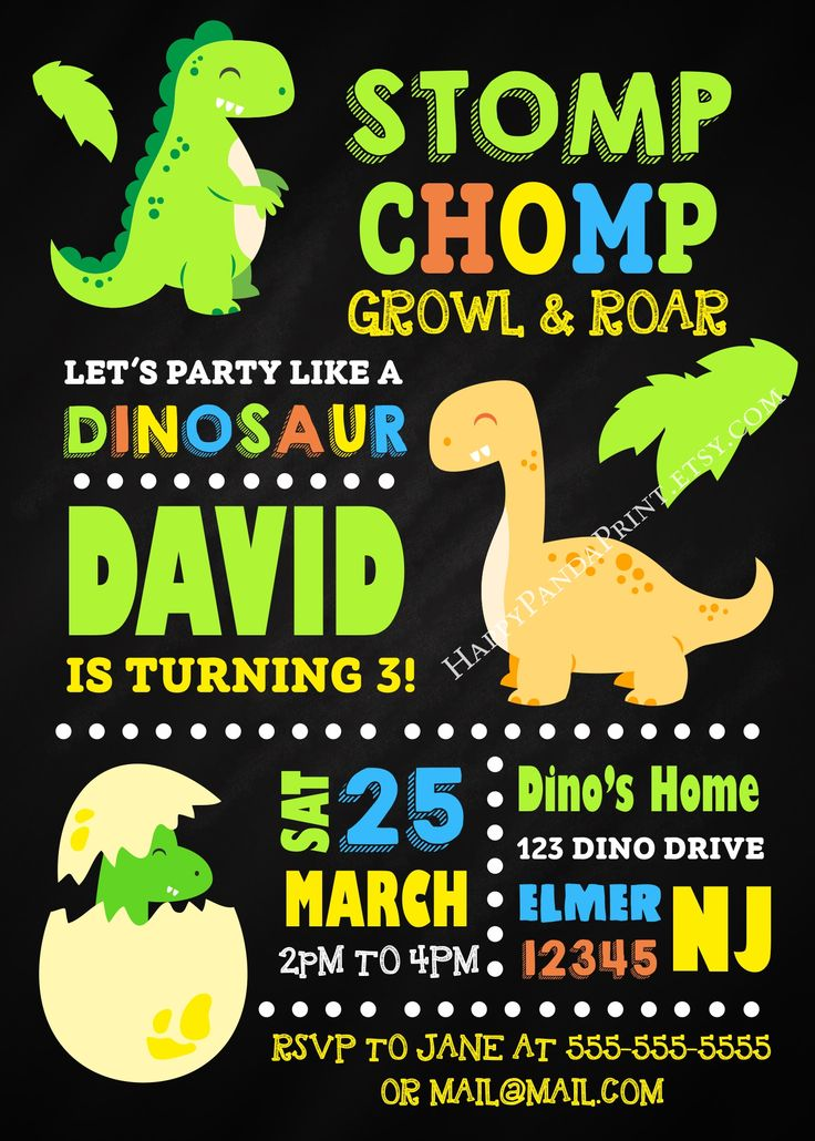 25+ best dinosaur birthday invitations ideas on pinterest, Birthday invitations