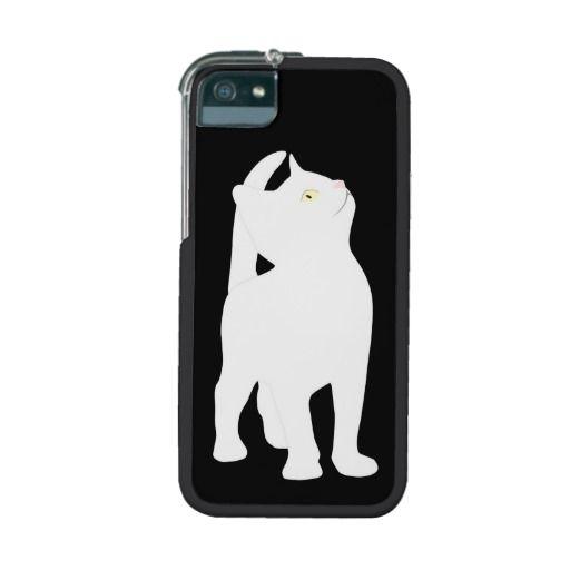 Cute white cat kitten unique iPhone 5s case