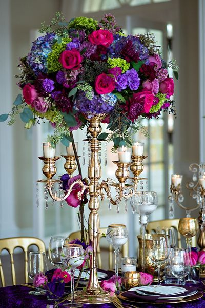 Beautiful Tall Centerpieces | Quinceanera Centerpieces | Quinceanera Ideas |