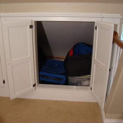 Knee Wall Storage Design Pictures Remodel Decor and