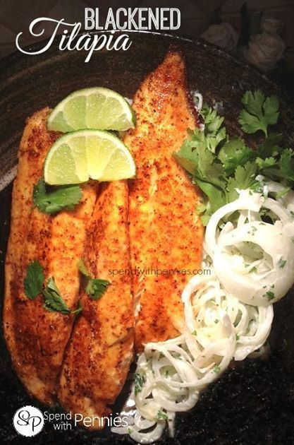 Blackened Tilapia! This is a favorite around here, and super quick and easy to make. #healthyeating #wolo #tastytuesday