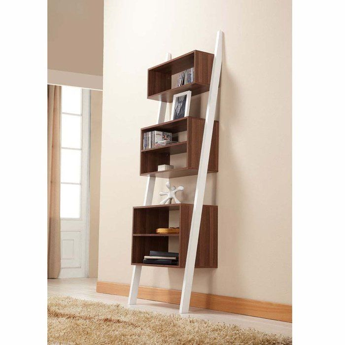 furniture of america pixie leaning tower bookcase display shelf