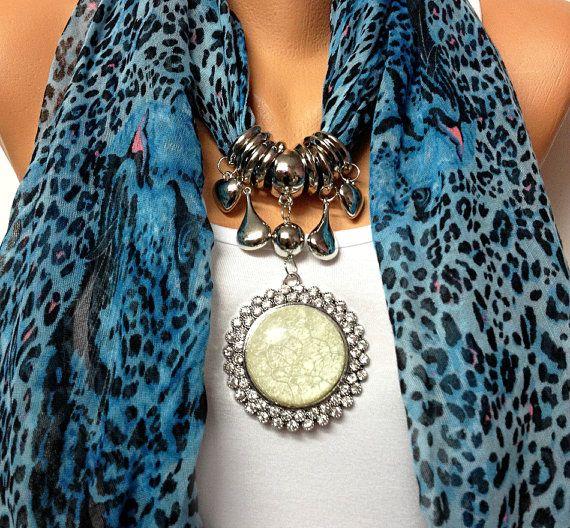 bufanda de leopardo de la joyería con diamantes de imitación