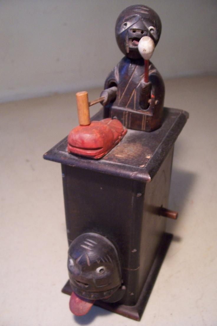 machine Vintage toy gun wooden