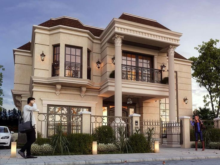 Classic Villa on Modern Front House Elevation Designs
