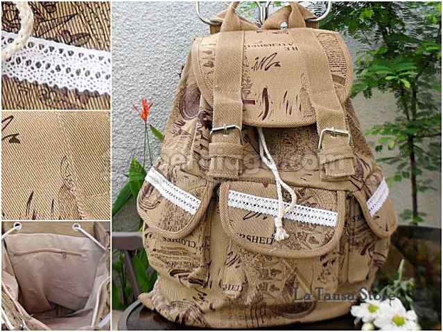 Ransel Kanvas Perfetta Kode: BP-FTA129 - Import