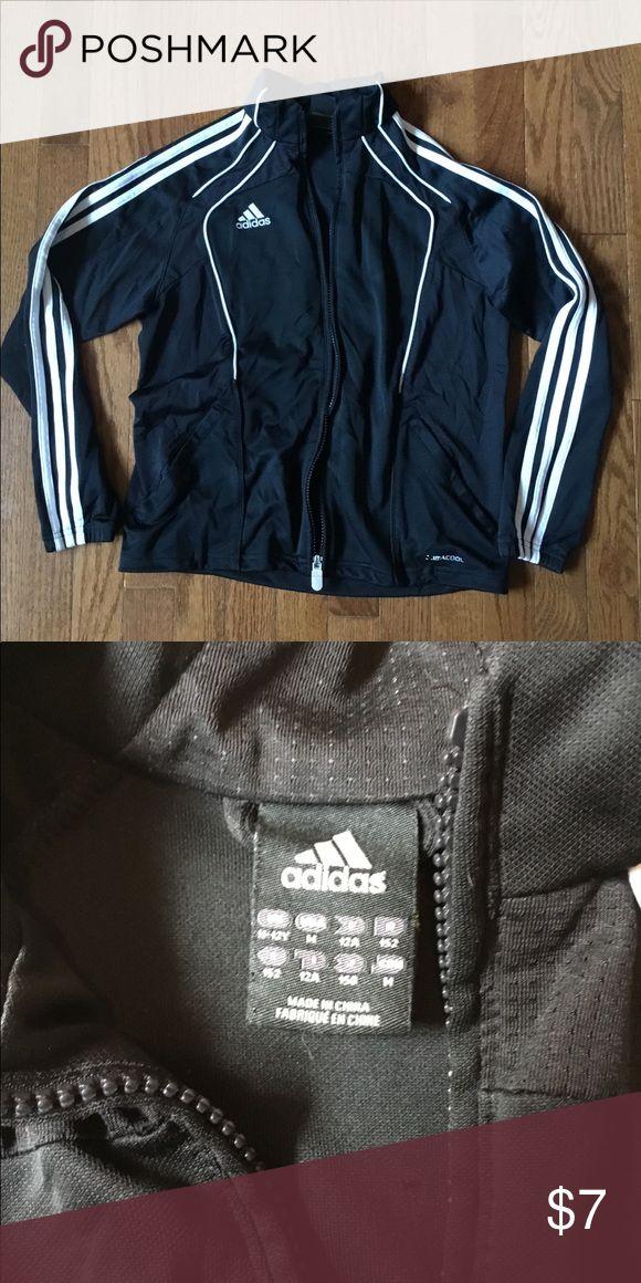 Adidas black sweat jacket, sz M Adidas black sweat jacket